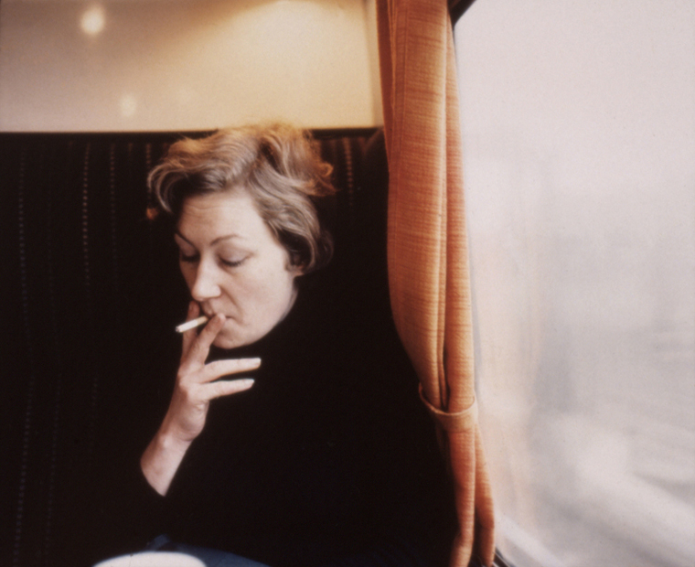 On a Train to Brighton, England, 1980 30 x 40 inches edition of 6 chromogenic dye coupler print