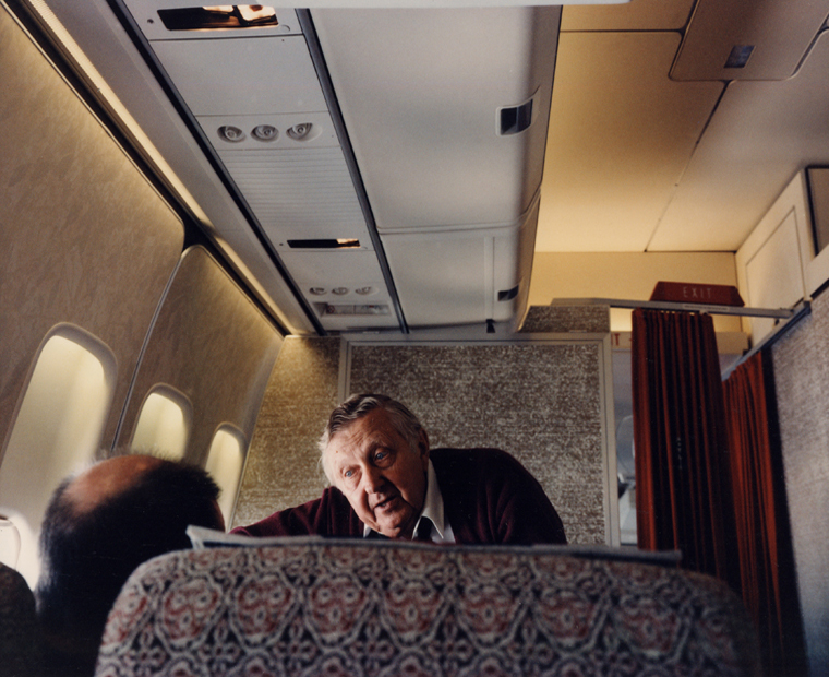 Over the Pacific, On a Flight to Hong Kong, 1984 30 x 40 inches edition of 6 chromogenic dye coupler print