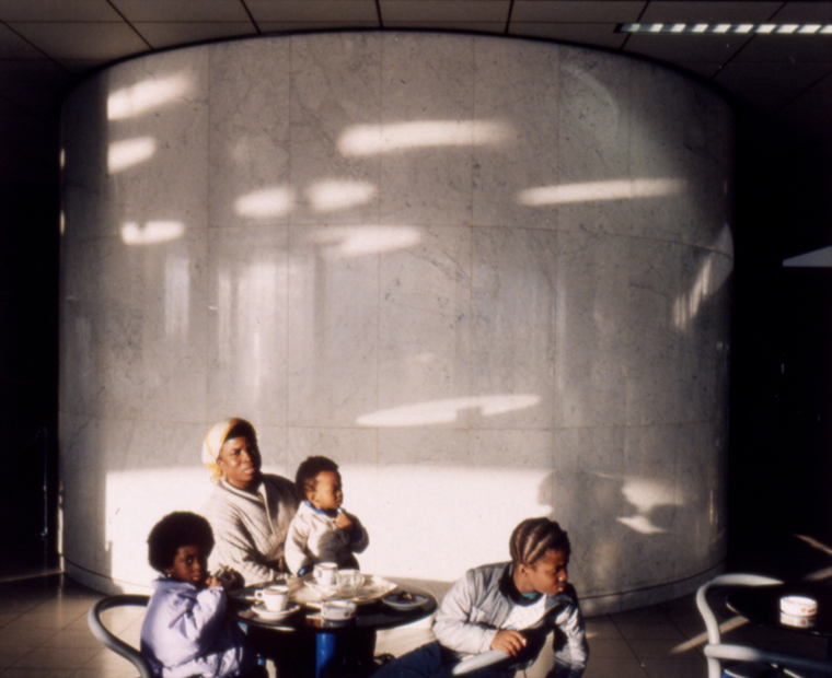 Africans Waiting for a Plane, Schipol Airport, Amsterdam, 1989 30 x 40 inches edition of 6 chromogenic dye coupler print