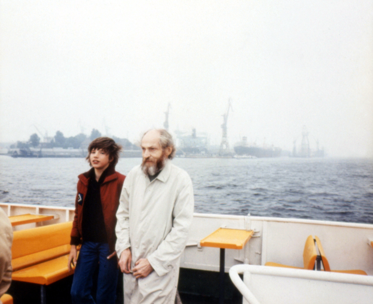 On a Tourists' Boat in Hambourg Harbor, 1981 30 x 40 inches edition of 6 chromogenic dye coupler print