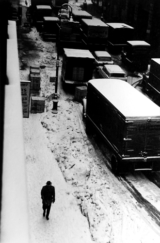 From Window at 133 West 22nd Street, New York, 1960 9.26 x 6.25 inches vintage silver print