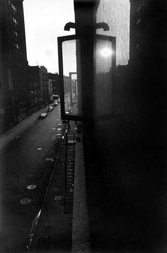 Sunset from Window, 133 West 22nd Street, New York, 1960 13.5 x 9.75 inches vintage silver print