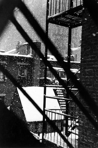 From Back Window At 133 West 22nd Street, New York, 1958 13.5 x 9 inches vintage silver print