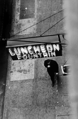 West 22nd Street, New York, 1958 10 x 7 inches silver print