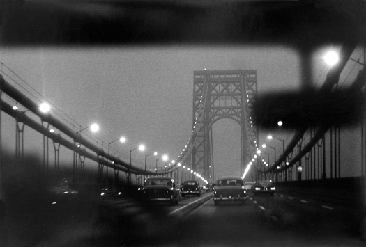 George Washington Bridge, New York/New Jersey, 1960 9 x 13.5 inches vintage silver print