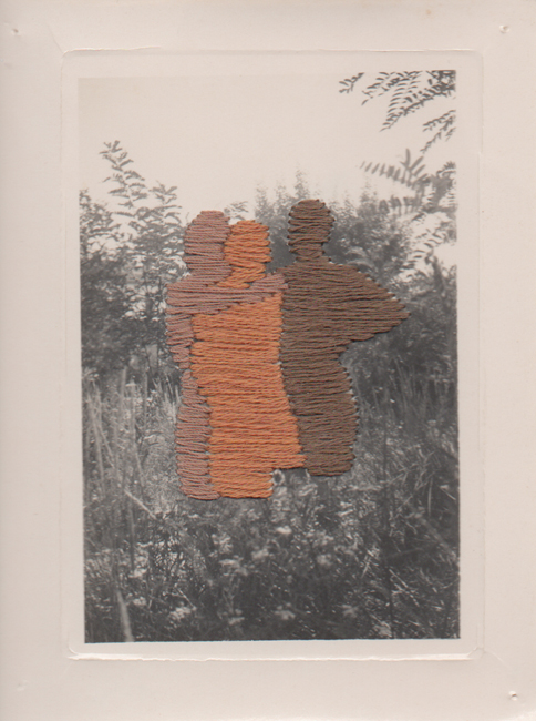 Flore Gardner As Time Goes By 4 (Ghosts series), 2010 embroidered found photograph 3.15 x 4.35 inches