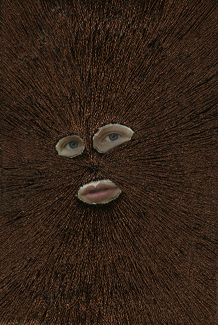 Jessica Wohl Hidden, 2012 embroidery on found photograph 6 x 4 inches