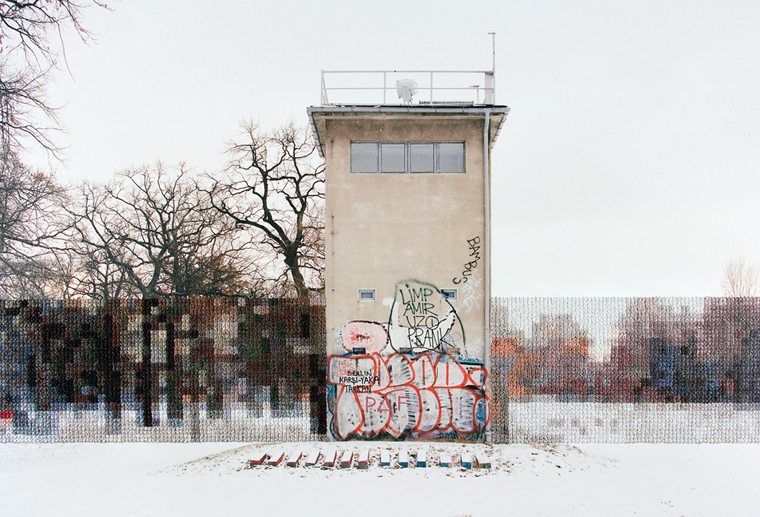 Diane Meyer Former Guard Tower off Pushkinallee, 2013 hand-sewn archival pigment print 10.5 x 13.25 inches edition of 3