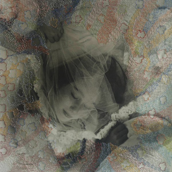 Melissa Zexter Veil, 2013 embroidery on gelatin silver print 20 x 24 inches