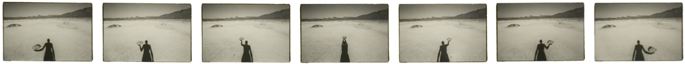 Bonneville Salt Flats (6 October 1980) sequence of seven 2.5 x 3.5 inch vintage silver prints