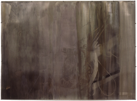 Gold Science Ghost Drawing #2, 1997 50 x 67 inches unique mixed media print