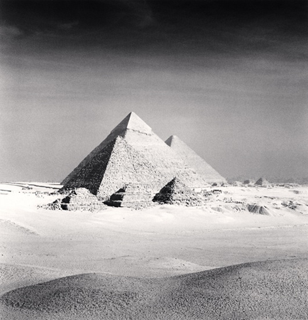 Giza Pyramids, Study 6, Cairo, 2009 7.75 x 7.25 inches edition of 45 toned silver print