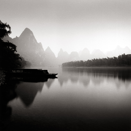 Lijiang River, Study 4, Guilin, China, 2006 7.75 x 7.5 inches edition of 45 toned silver print