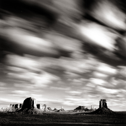 Morning Clouds, Monument Valley, Utah, 2005 7.5 x 8 inches edition of 45 toned silver print