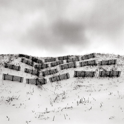 Twenty Fences, Obira, Hokkaido, Japan, 2003 8 x 7.5 inches edition of 45 toned silver print