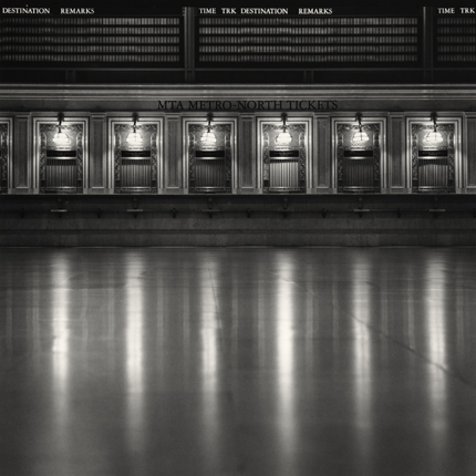 Ticket Counters, Grand Central Station, New York, 2000 7.75 x 8 inches edition of 45 toned silver print