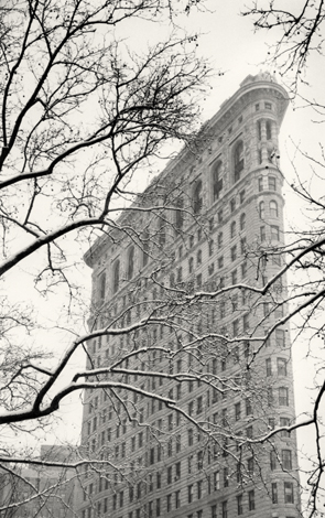 Flatiron Building, Study 2, New York, 2003 9.5 x 6 inches edition of 45 toned silver print