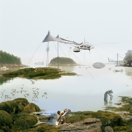 Air Ship Arecibo City, 2010 30 x 30 inches 40 x 40 inches edition of 5 chromogenic dye coupler print mounted to dibond aluminum