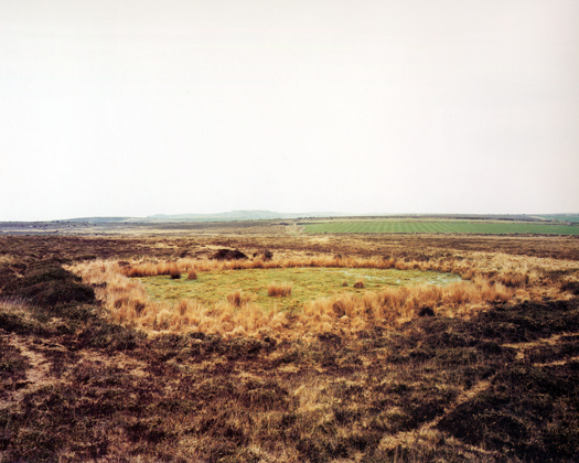 Penwith Moors, Bosporthennis Common, 1996 from the series  Dew Ponds  26 x 32 inches edition of 6 chromogenic dye coupler print