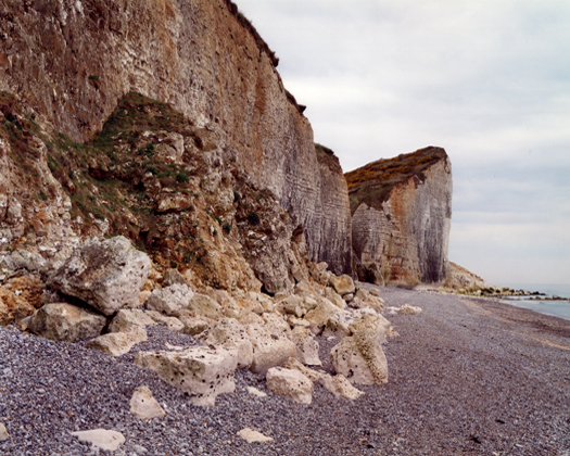 Le Val, North of Les Petits Dalles, 20 April 2006 from the series  Rockfalls  36 x 45 inches edition of 6 chromogenic dye coupler print