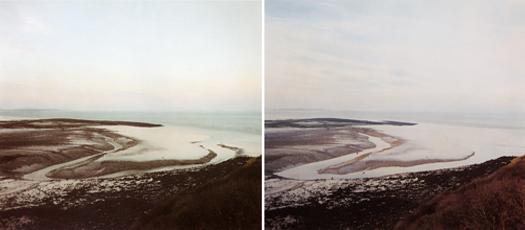 Clevedon Blind Yeo, 16 January, 2000 from the series  Rivermouths  36 x 45 inches (2 prints) edition of 6 chromogenic dye coupler prints
