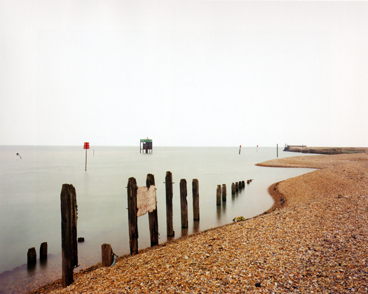 Rye Harbour, River Rother, 1 April, 1999 from the series  Rivermouths  36 x 45 inches edition of 6 chromogenic dye coupler print