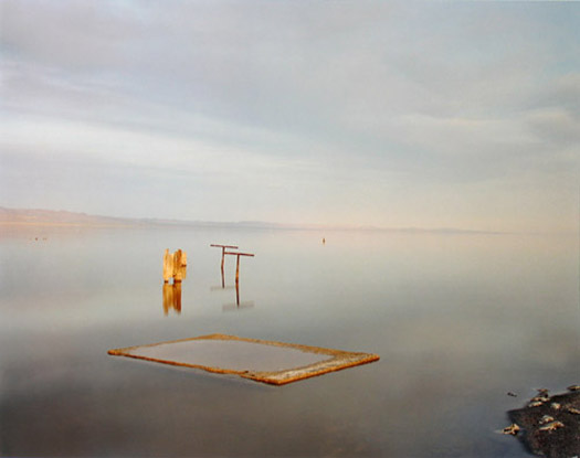 Salton Sea (with Dead Fish), 1983/1997 chromogenic dye coupler print 20 x 24 inches