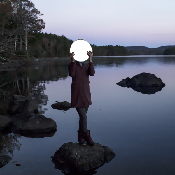 Sadie & The Moon, Lake Megunticook, Maine, 2013 from the series  Gardening at Night  14 x 14 inches (edition of 10) 28 x 28 inches (edition of 7) 40 x 40 inches (edition of 5) chromogenic dye coupler print