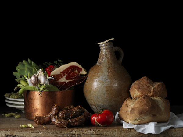 Still Life with Jámon Ibérico, after L.M., 2014 from the series Bodegón  15 x 20 inches (edition of 15) 22.5 x 30 inches (edition of 7) 36 x 48 inches (edition of 5) archival pigment print