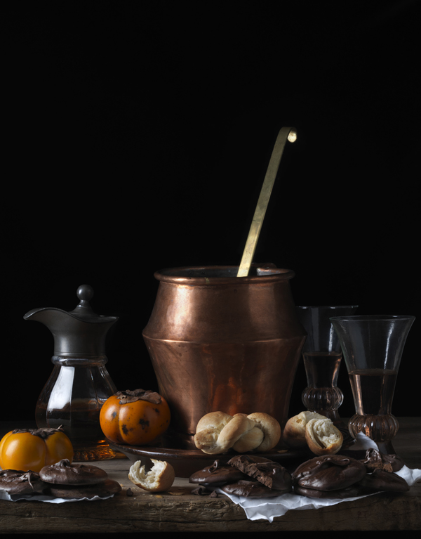 Still Life with Bread and Chocolate, after L.M., 2014 from the series Bodegón  20 x 15 inches (edition of 15) 30 x 22.5 inches (edition of 7) 48 x 36 inches (edition of 5) archival pigment print