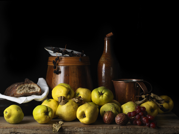 Still Life with Quince and Jug, after L.M., 2014 from the series  Bodegón  15 x 20 inches (edition of 15) 22.5 x 30 inches (edition of 7) 36 x 48 inches (edition of 5) archival pigment print
