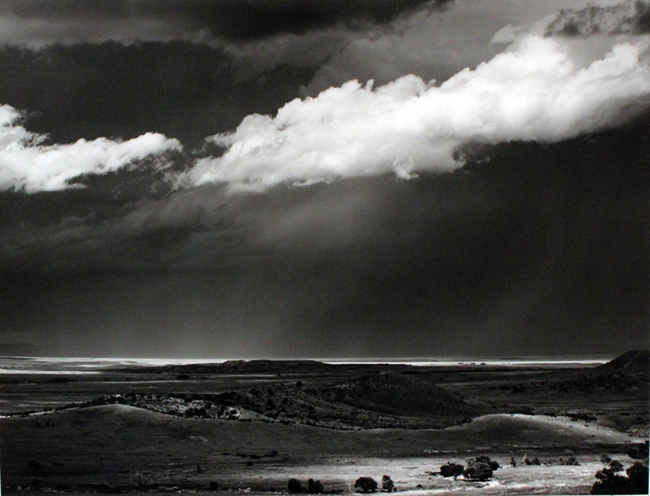 Thunderstorm, Great Plains, 1961 silver print 14.5 x 19 inches