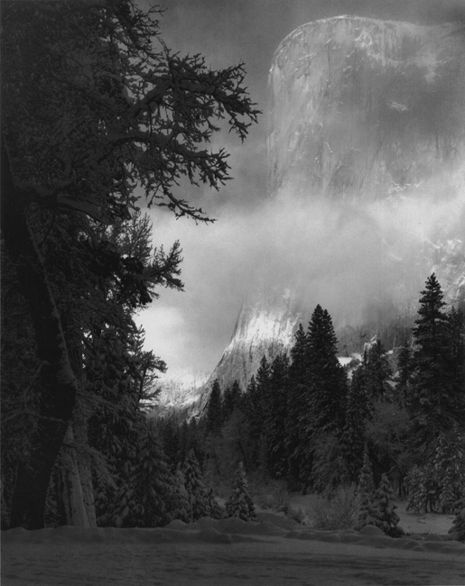 El Capitan, Sunrise, Winter, Yosemite National Park, CA, c. 1968 silver print 19.5 x 15.5 inches