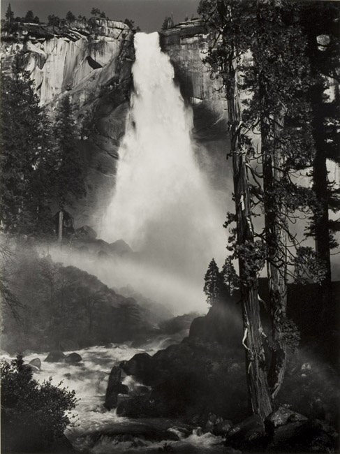 Nevada Fall, Yosemite National Park, California (Rainbow), 1950 silver print 18.75 x 14.25 inches