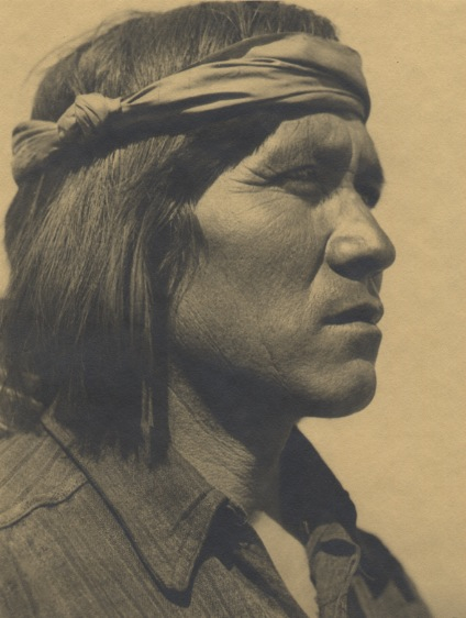 Juan Pancho of Cochiti Pueblo, c. 1928 Dassonville silver print  8.25 x 6 inches