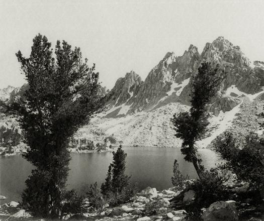 Kearsarge Pinnacles, Southern Sierra, c. 1927 vintage parmelian print 6 x 7.75 inches