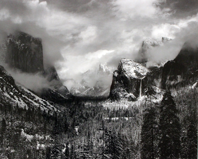 Clearing Winter Storm, Yosemite National Park, CA, 1944 silver print 15.5 x 18.5 inches