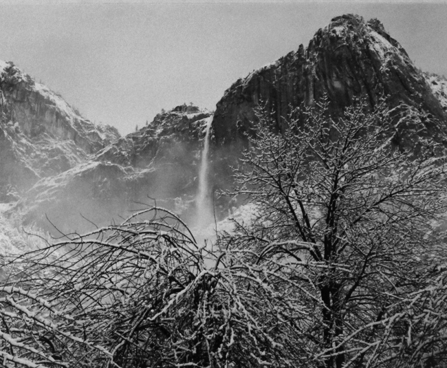 Yosemite Falls, Winter, Yosemite Valley, California, 1943 vintage silver print 14 x 18 inches