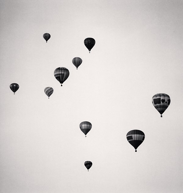 Ten Balloons, Albuquerque, New Mexico, USA, 1993 8.25 x 7.75 inches edition of 45 toned silver print
