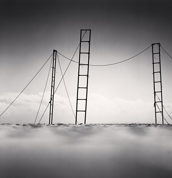 Three Ladders, Sampo Beach, Gangwondo, Korea, 2006 7.8 x 7.5 inches  edition of 45 toned silver print