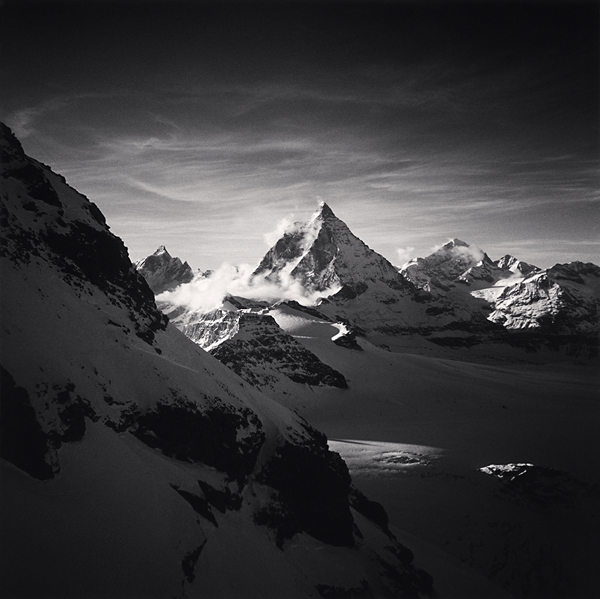 The Matterhorn, Pennine Alps, Switzerland, 1994 7.75 x 7.75 inches  edition of 45 toned silver print