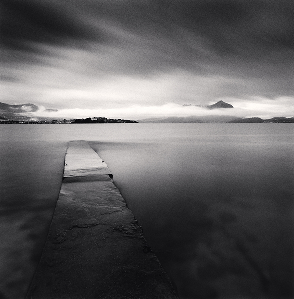 Evening Walk, Isola dei Pescatori, Lake Maggiore, Italy, 2008 7.75 x 7.5 inches  edition of 45 toned silver print