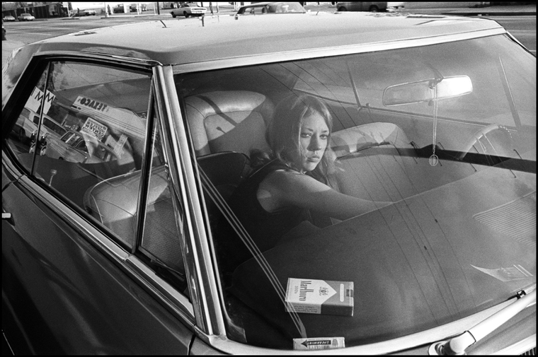 Untitled, 1970 from the series  People in Cars  4.375 x 6.5 inches vintage silver print