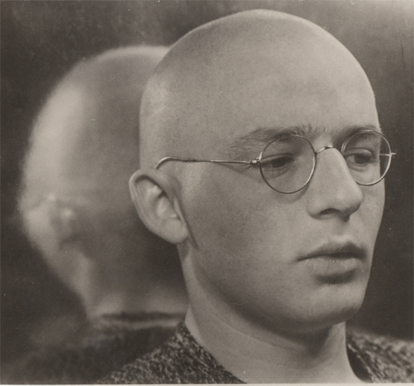 ringl + pit Bald Youth, 1930 6 x 6.25 inches silver print mounted to board