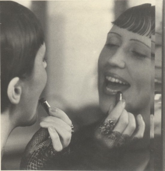 ringl + pit Eckstein with Lipstick, 1930 7.5 x 7.25 inches early silver print