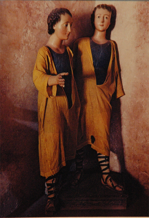 Ellen Auerbach & Eliot Porter Actopan, Twins, 1956 10.5 x 7.25 inches vintage dye transfer print mounted to board