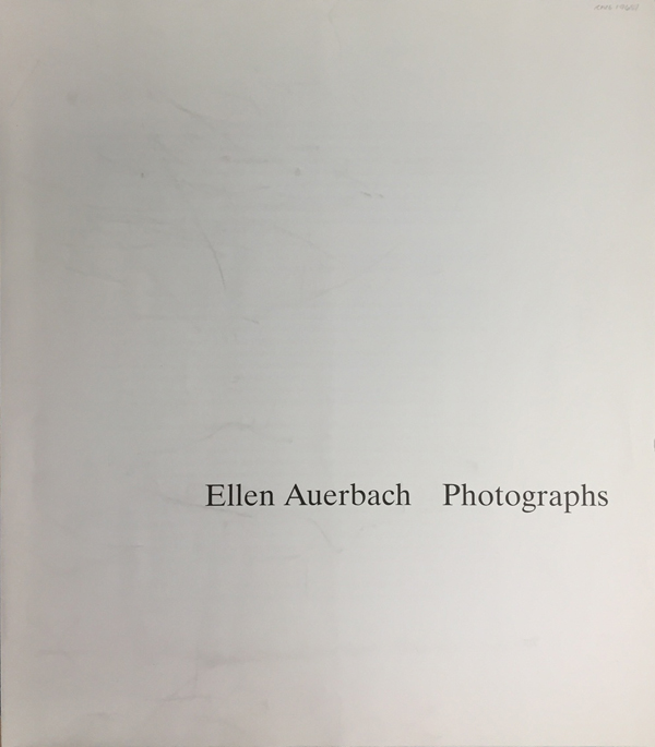 Ellen Auerbach Portfolio: Fotografien, 1933-1959 20 x 16 inches edition of 20 twelve silver prints