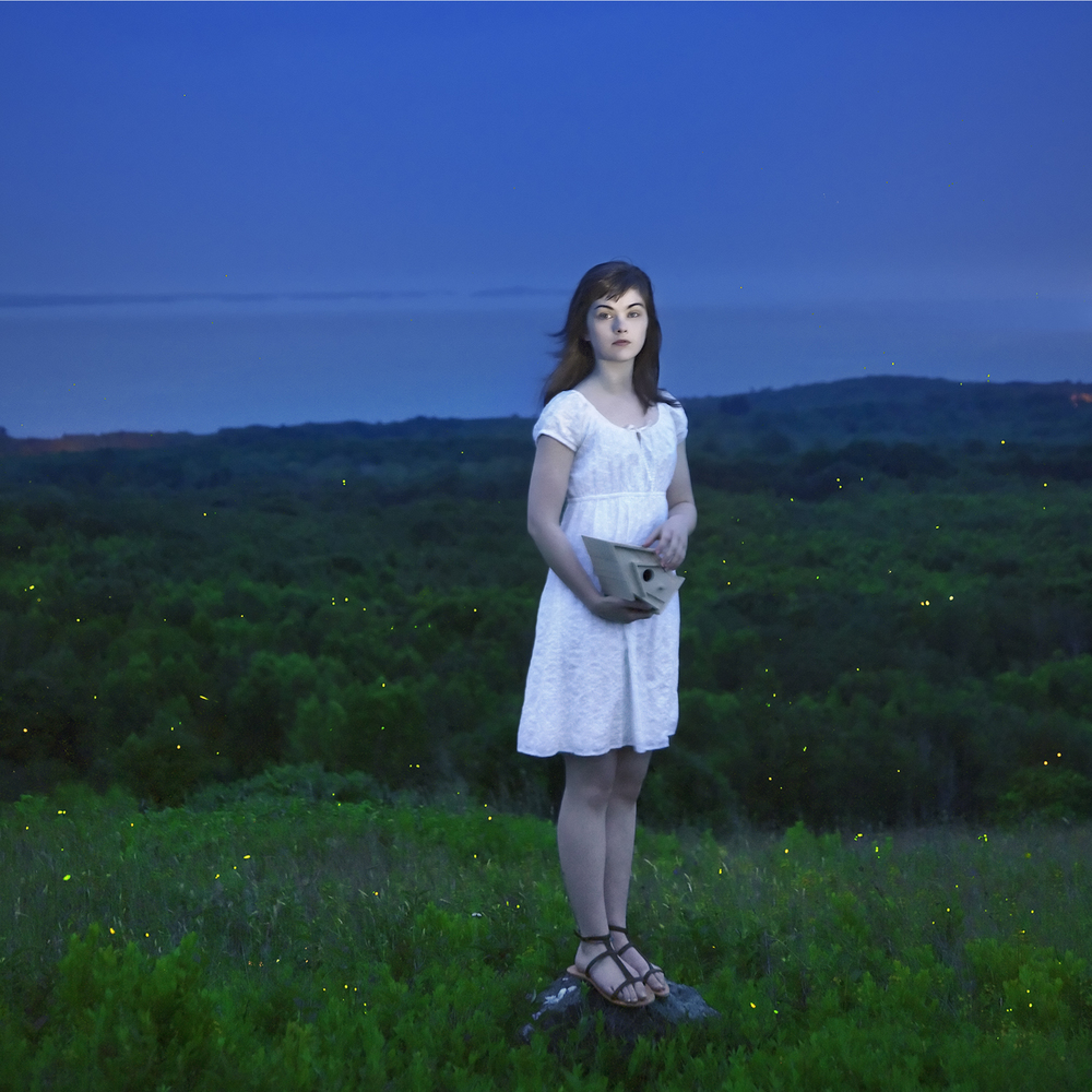 Devin & The Fireflies, Rockport, Maine, 2010 14 x 14 inches (edition of 10) chromogenic dye coupler print 28 x 28 inches (edition of 7) chromogenic dye coupler print 40 x 40 inches (edition of 5) dye sublimation print on aluminum 12 x 12 inches (edition of 5) animated photograph