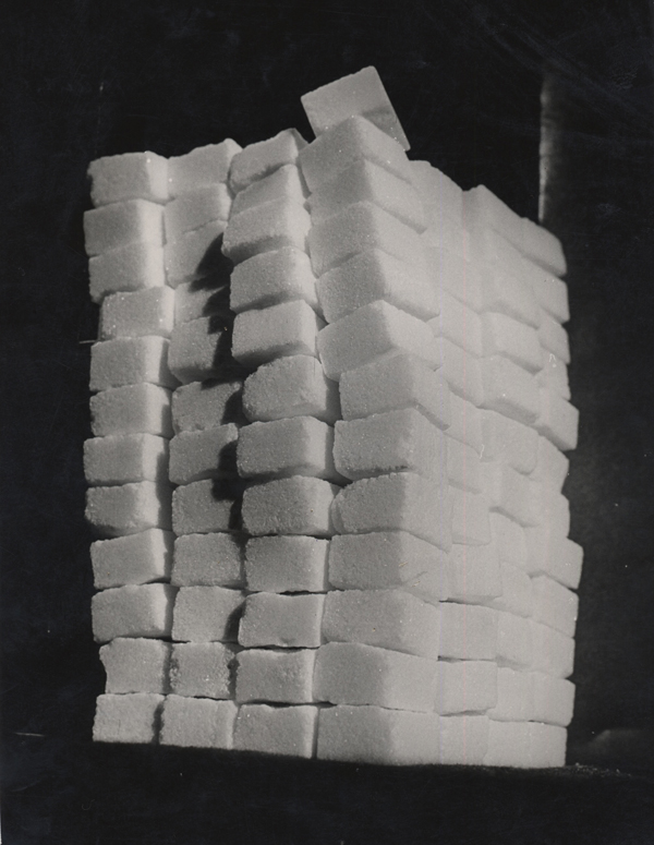 Tower of Sugar Cubes, 1949 9.25 x 7 inches vintage silver print