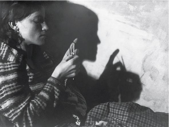 Untitled (Schattenspiel), c. 1920's Vintage silver print 3.25 x 4.5 inches